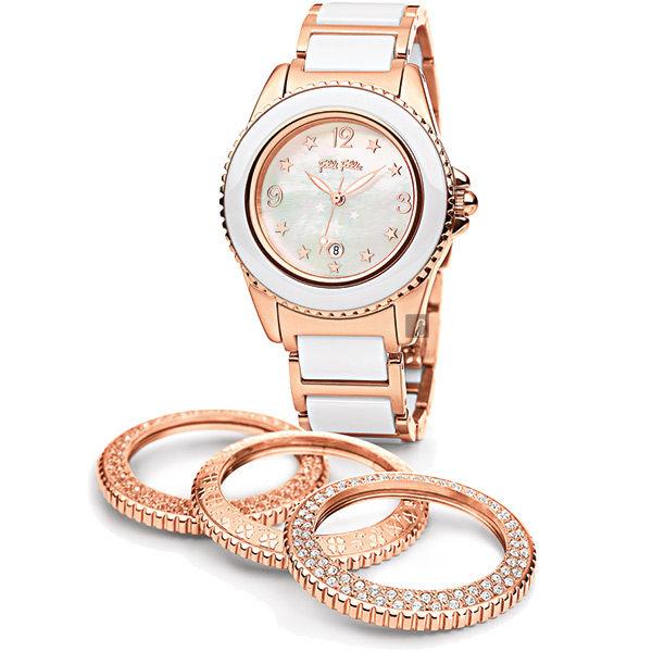 原廠公司貨,國際精品n數字+星星時標,活潑俏麗n附贈三款時尚錶圈,隨心變換