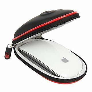Hermitshell:Apple MagicMouse 一、二代專用保護Case 含掛勾 (黑紅)
