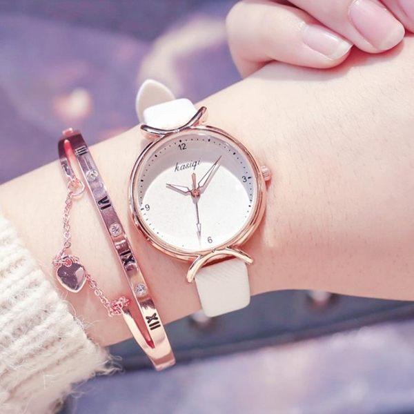 (送手鏈)森女系 手錶 學院風櫻花 電子錶 女士手錶 正韓大氣質百搭 石英錶 任選1件享8折
