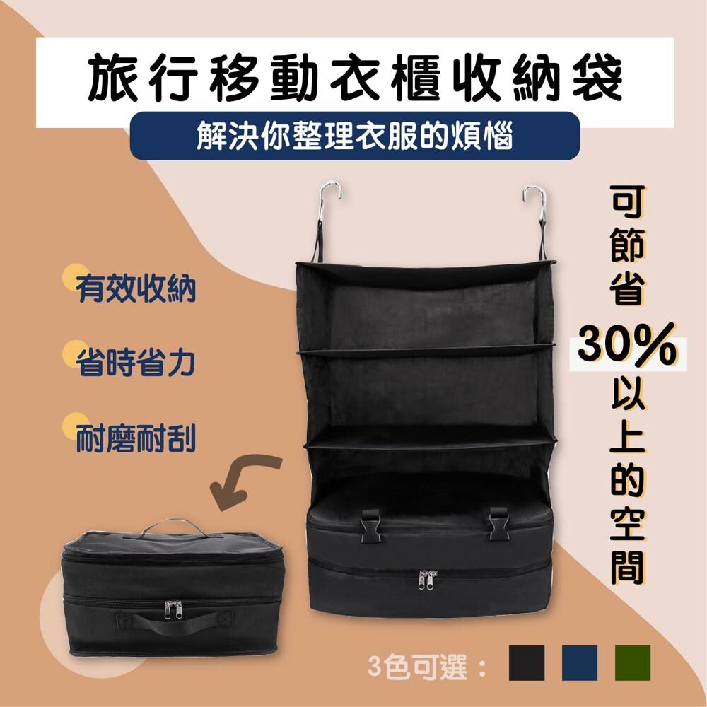 【旅行移動衣櫃】徹底改變您的旅行方式 以前,妳總是拖到最後一刻才開始整理行李 到旅館後,衣服馬上又弄亂了 現在妳有更快速簡潔的收納方式 有效提升30%的行李箱空間 整理速度增加50% 旅行時間增加20