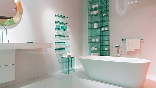 20 ไอเดียต้นแบบแต่งห้องน้ำด้วย อ่างอาบน้ำ ทรงโค้งมน