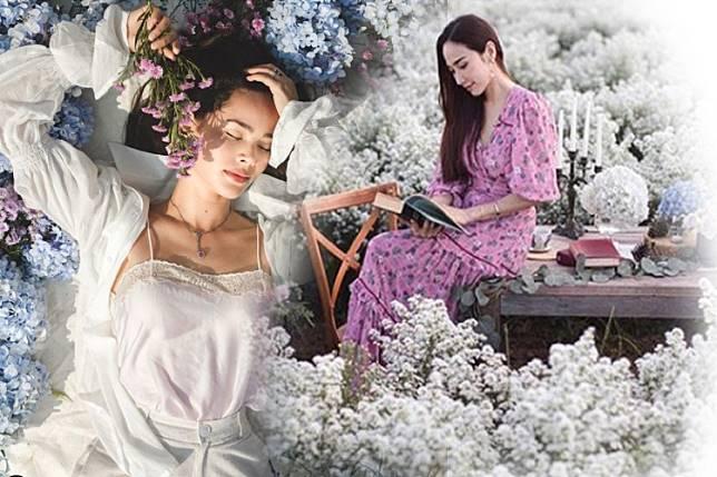 รักพี่เสียดายน้อง...'อั้ม-ญาญ่า'ในฟาร์มดอกไม้