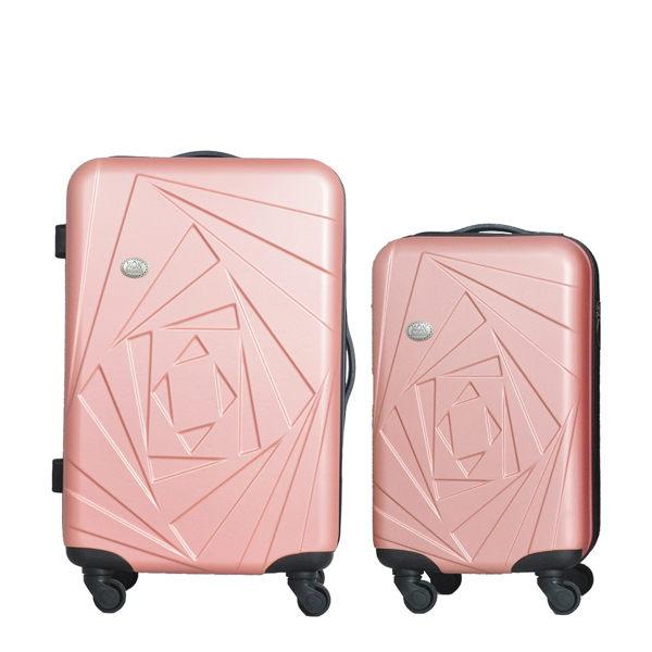 .繽紛耐用的輕硬殼旅行箱 .箱身重量較一般傳統行李箱減重約5kg.一次帶回2個超輕量化旅行箱.分段式鋁合金拉桿.360度四輪靜音.耐刮磨鑽石顆粒紋路.彈性拉鍊拉鍊設計.ABS可塑性塑料防震、防撞.軟硬
