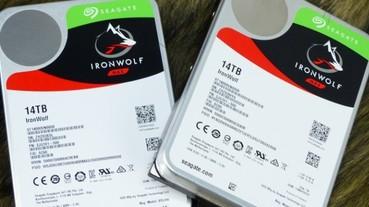 NAS 適用 Seagate IronWolf 那嘶狼硬碟容量再突破,14TB ST14000VN0008 上機測試