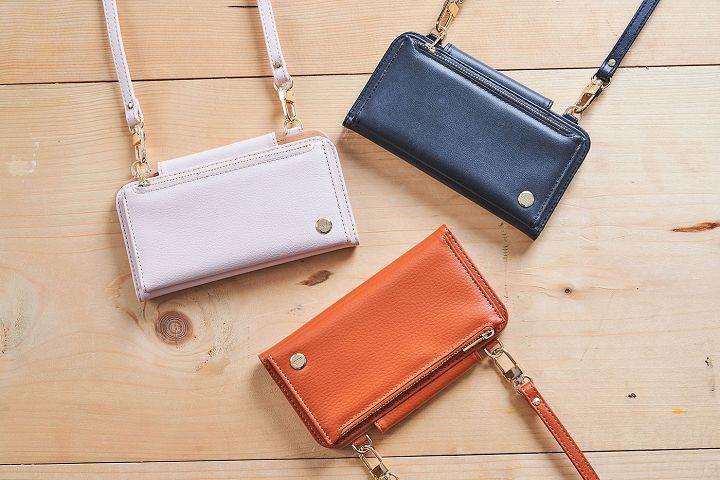 Moshi 新推出的 SnapTo Crossbody Wallet 磁吸式斜背三用手機包,有墨石黑、玫瑰粉、赭石橘三個顏色可以選擇。