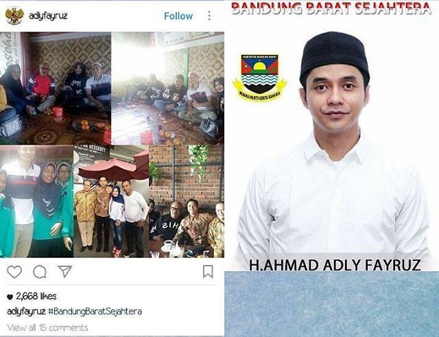 Calonkan Bupati di Bandung Barat, Netizen Sibuk Tanyakan Hal Ini pada Adly Fairuz!