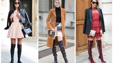 大冬天這麼搭配過膝靴才最時尚!