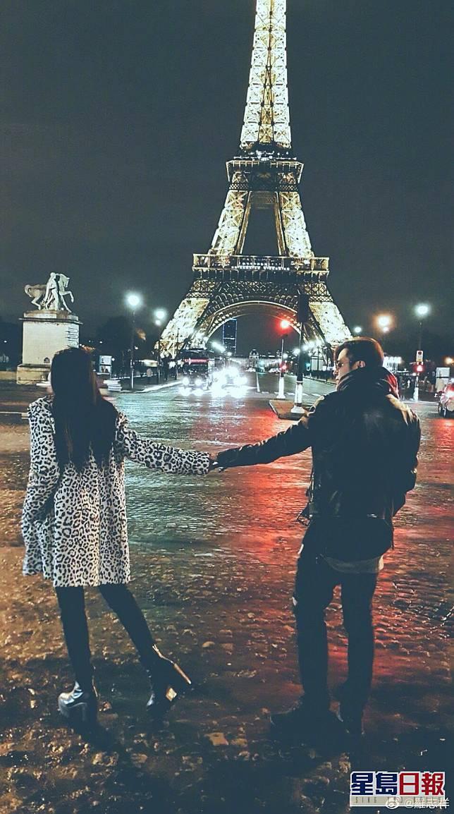 小豬晒同遊巴黎合照,以公開兩人的關係。