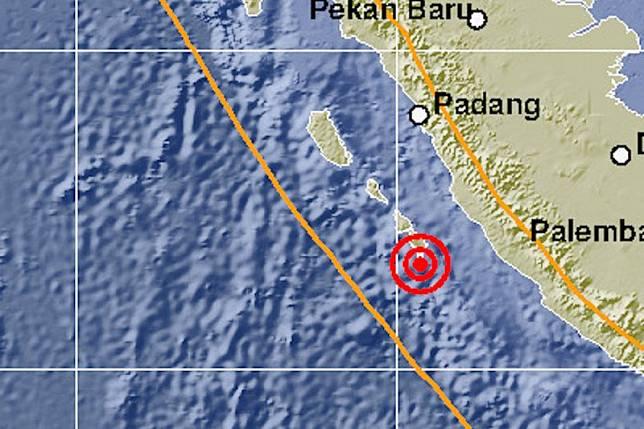 Gempa magnitudo 5,7 guncang Mentawai tidak berpotensi tsunami