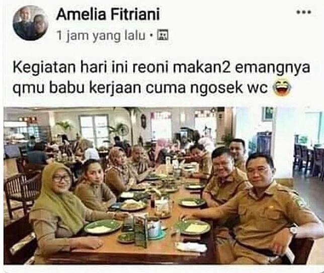 Terungkap Jabatan PNS yang Hina Profesi Pembantu saat Makan di Restoran! Facebooknya Diserbu dan Dihujat!
