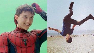 體能超強大!湯姆荷蘭大秀一般人做不到的「體操特技」,網友驚:真正的蜘蛛人!