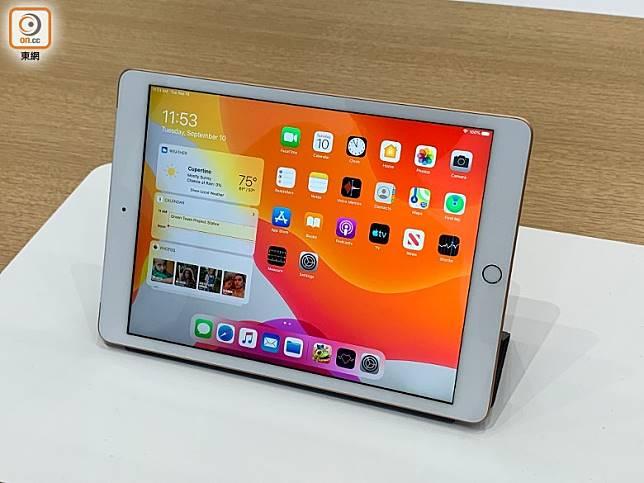 新iPad內置10.2吋Retina屏幕。(陳志滔攝)