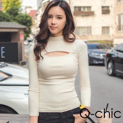 正韓性感胸口一字挖空磨毛棉上衣 胸前開口性感呈現 親膚舒適針織 韓劇女星浪漫穿搭 優雅‧氣質,完美