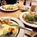 ホウレン草とベーコン - 実際訪問したユーザーが直接撮影して投稿した神宮前ハワイ料理Eggsn Things 原宿店の写真のメニュー情報