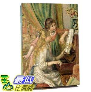 [COSCO代購] W122887 雷諾瓦-彈鋼琴的少女松木框油畫 60x90CM