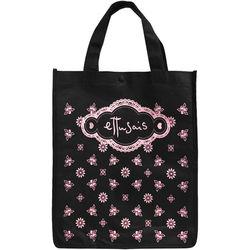 ETTUSAIS 艾杜紗 黑色花紋手提袋