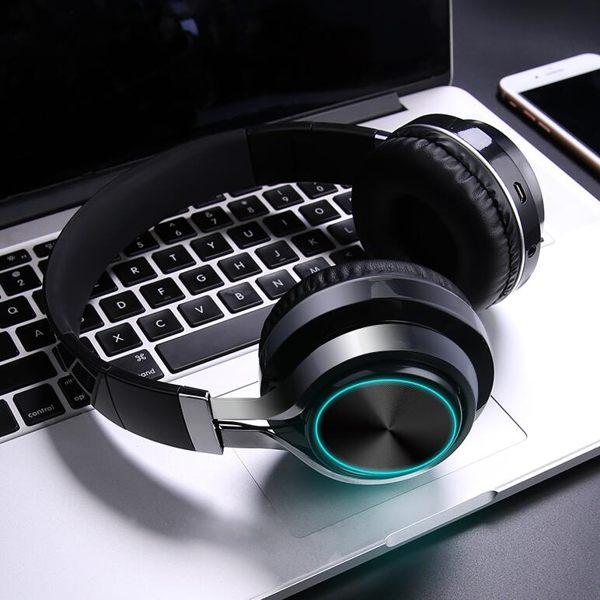 無線發光藍牙耳機頭戴式遊戲運動型跑步耳麥電腦手機通用男女超長待機藍牙MOON衣櫥