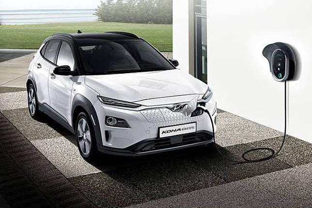 Ilustrasi mobil listrik Hyundai Kona electric