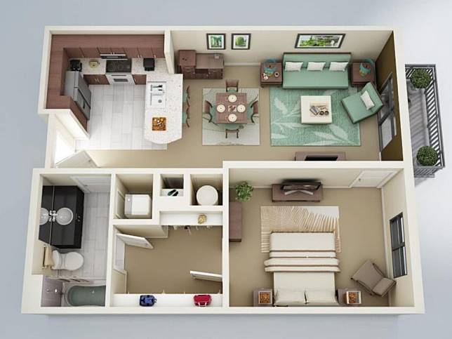 sketsa rumah