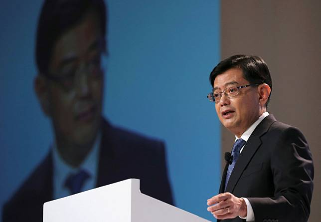 Singapore Finance Minister Heng Swee Keat speaks at a UBS client conference in Singapore, January 14, 2019.