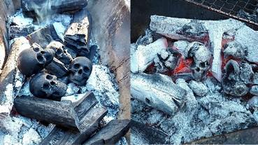 一名藝術家在全球最大模型展 Wonder Festival 打造出人骨形狀木炭 網友:「也算是模型啦⋯」