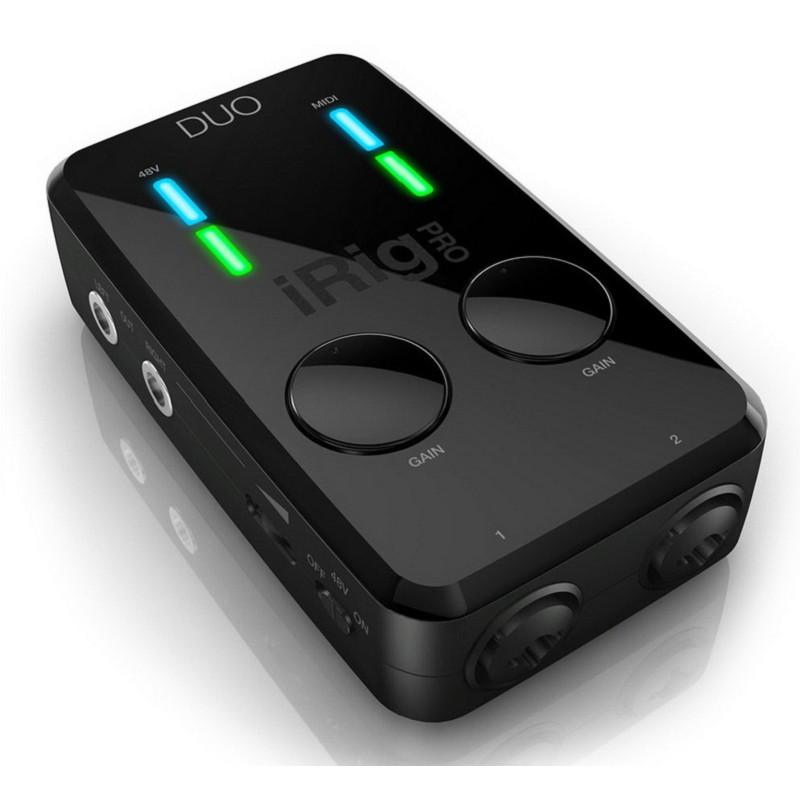 ★ 免運公司貨 IK iRig PRO DUO 吉他 Bass 鍵盤 MIDI 麥克風 錄音介面 ★原廠總公司正貨保固不斷創新樂器與行動裝置的連接,雙軌同時錄音 『iRig DUO』全平台通用之外,竟