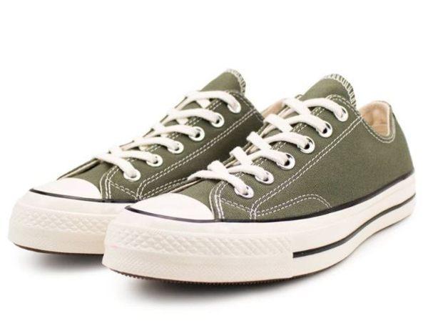 CONVERSE系列 Chuck Taylor All Star '70 中性款綠色 低筒休閒帆布鞋 -NO.162060C