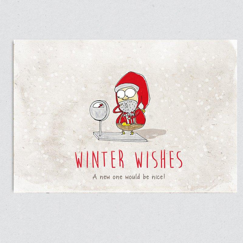 小小的願, 我只想要一個新的體重機! **Winter Wishes~** #stupidin #stupidinitforward #xmas #postcard #greetingcards #h