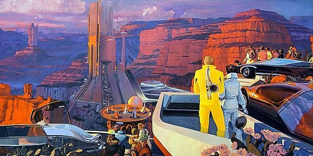 Syd Mead作品透現出他獨到的未來視野。(互聯網)