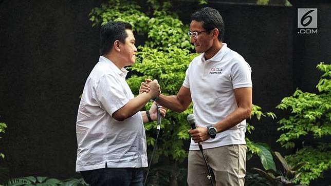Sandiaga Uno - Erick Thohir Tampil Akrab di Young Penting Indonesia