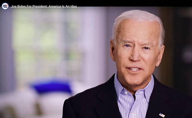 In this still image taken from video released by the Joe Biden 2020 Presidential Campaign, former US Vice President Joe Biden on April 25, 2019, announces his bid for the presidency in the 2020 elections. Biden jumped into the race for the White House Thursday, positioning the veteran Democrat as a frontrunner among the many candidates seeking to challenge US President Donald Trump in 2020.