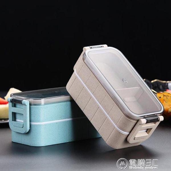 日式飯盒 學生便當盒餐ins分格上班族雙層微波爐加熱健身餐盒