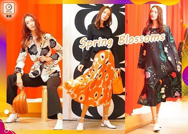 今個春夏,Marimekko以歌頌花朵作主題,配合六、七年代懷舊風格,設計出充滿仙氣的新裝。(莫文俊攝)
