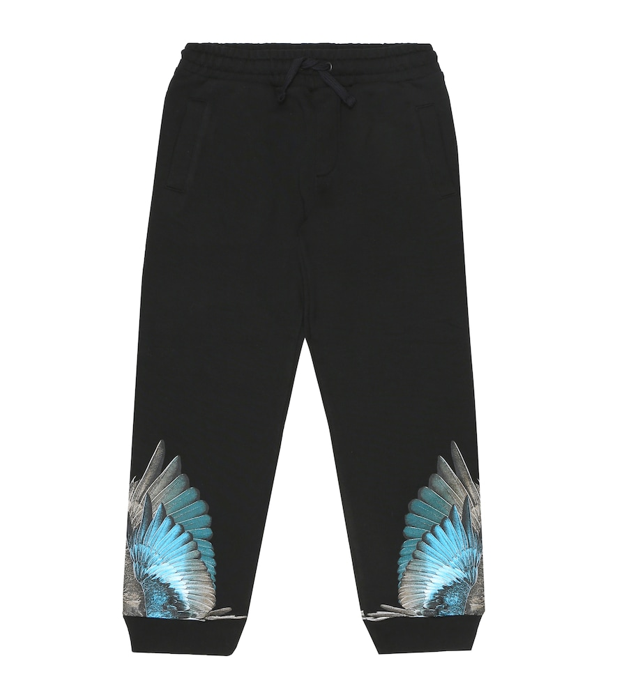 These trackpants are enriched with a distinctively MARCELO BURLON Kids of Milan touch: blue feather