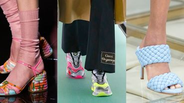 【2020 SS米蘭時裝周】涼鞋配襪子回歸、螢光亮色活力登場!米蘭時裝周春夏鞋款精選