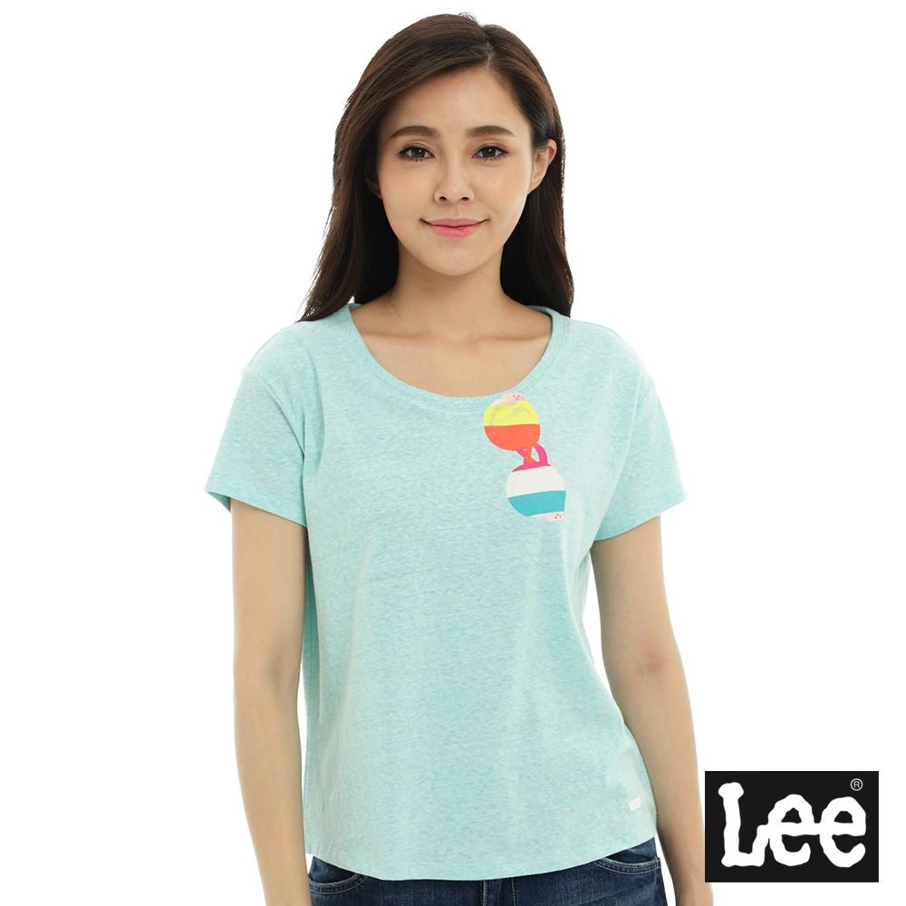 Lee 太陽眼鏡印刷短袖圓領-女款-翡翠綠--SS17