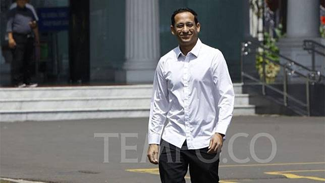 Nadiem Makarim arrives at the Presidential Palace Complex in Jakarta on Monday, October 21, 2019. TEMPO/Subekti