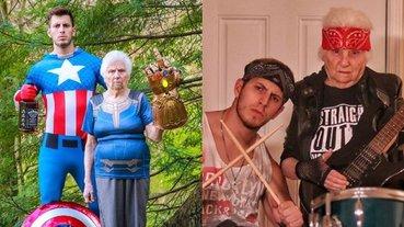 超狂!93 歲老奶奶和 27 歲孫子無厘頭 Cosplay 全球爆紅,光是臉書就擁有近 950 萬粉絲 !