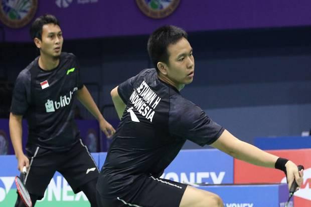 Bungkam Duet Jepang, Hendra/Ahsan Hat-trick Gelar di Kejuaraan Dunia