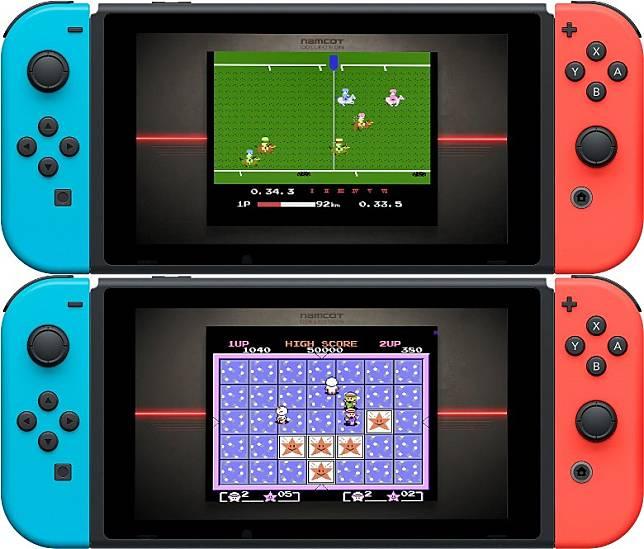 玩《Family Jockey》(上)及《Quinty》(下)等遊戲時,畫面會變回傳統4:3。(互聯網)