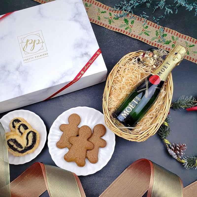 讓我們的聖誕套裝陪您歡度佳節!此套裝包括我們最暢銷的伯爵茶蝴蝶酥,薑餅人和Mini Moet,非常適合自用或送禮!*供應期:至2020年12月31日