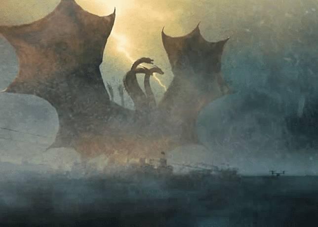 基多拉擁有3個頭、2條尾巴,及巨大翅膀,而且全身披覆金色鱗甲,更可發射出閃電。(互聯網)