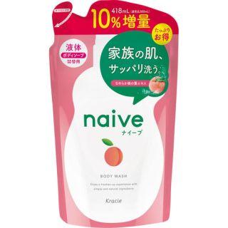 ナイーブ ボディソープ 詰替10%増量  桃の葉エキス配合