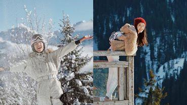 「老公視角的隋棠~又甜又性感!」雪地渡假美照就該這樣拍,跟著隋棠去阿爾卑斯山滑雪!