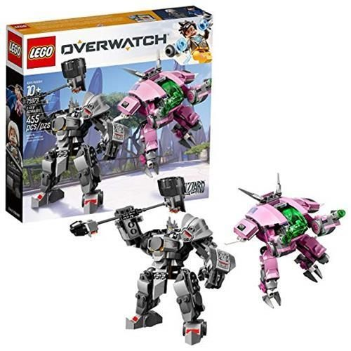 LEGO 樂高 6250956 Overwatch D.Va and Reinhardt 75973 Building Kit (455 Piece), Multicolor