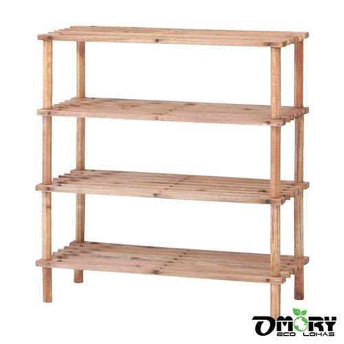 DIY組裝,不需工具!!! ◆全天然松木實木製無毒環保 ◆木板厚度達1.5cm堅硬牢固 ◆可承重量為10KG ------------------------------ 品名:【OMORY】天然松木