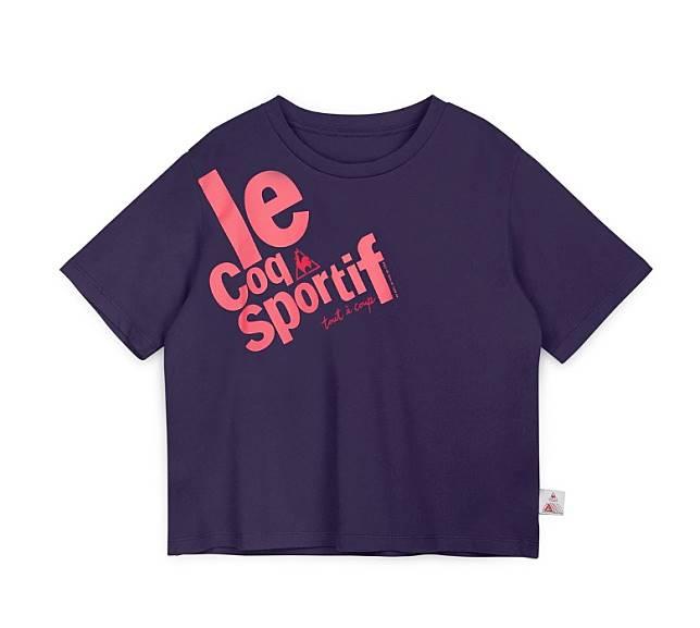 紫色大Logo印花短袖Tee(互聯網)