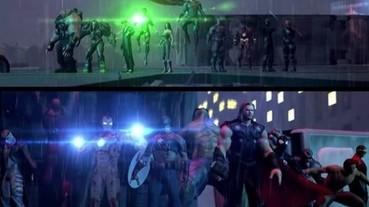 電影裡看不到的 Marvel 復仇者對抗 DC 正義聯盟 鐵粉做出大亂鬥動畫!
