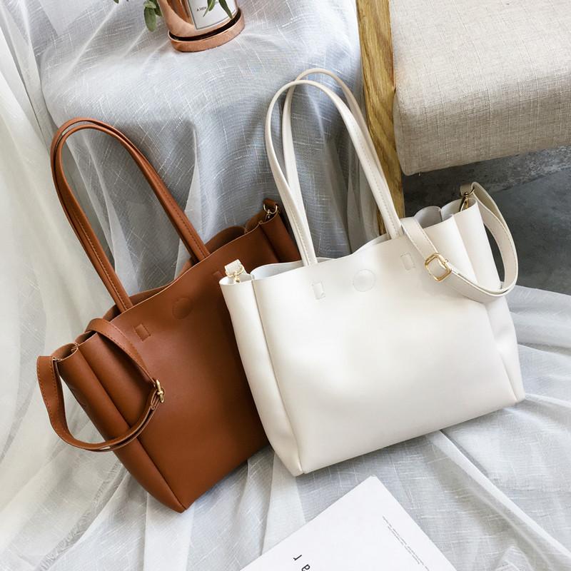 包包2019新款潮韓版托特包女包斜挎包大容量單肩包簡約百搭手提包