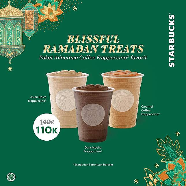 Starbucks Promo Blissful Ramadan Treats